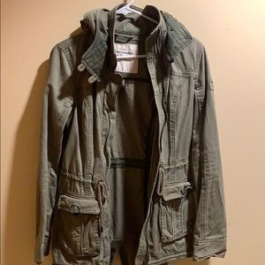 Abercrombie and Fitch green jacket